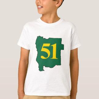 ジェファーソン第51の国家の州 Tシャツ