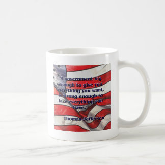 ジェファーソン著大きい政府の引用文 コーヒーマグカップ