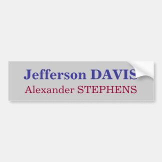 ジェファーソン・デイヴィス、アレキサンダーSTEPHENS バンパーステッカー