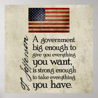 ジェファーソン: 大きい政府の用心して下さい ポスター