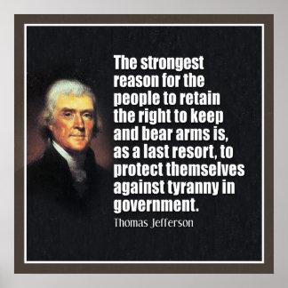 ジェファーソン: 腕に耐えること右 ポスター