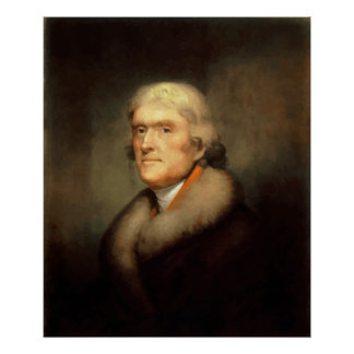 ジェファーソンPainting大統領 ポスター