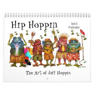 ジェフHoppis著ファンキーなカエルの芸術のカレンダー カレンダー