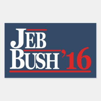 ジェブ・ブッシュ2016のステッカー 長方形シール
