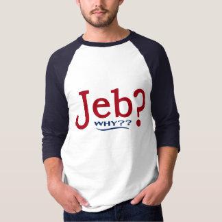 ジェブ・ブッシュ2016のパロディの野球ジャージー Tシャツ