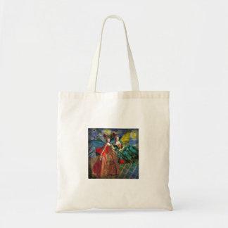 ジェミニゴシック様式お洒落なコラージュの蝶女性 トートバッグ
