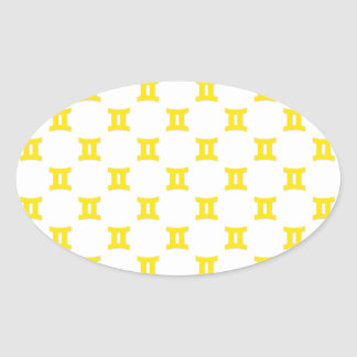 ジェミニパターン黄色 楕円形シール