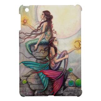 ジェミニ人魚のファンタジーの芸術の月の星 iPad MINIケース