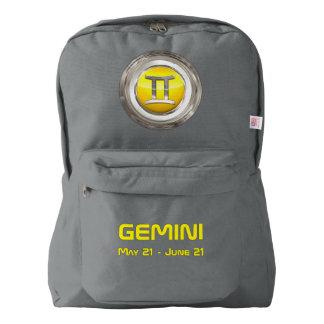 ジェミニ占星術のな記号 AMERICAN APPAREL™バックパック