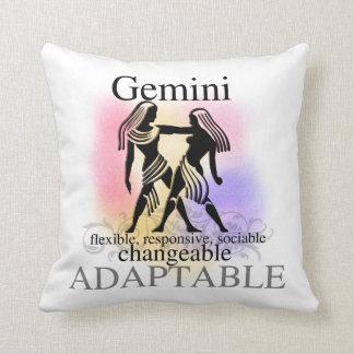 ジェミニ占星術の印アメリカMOJOの枕 クッション