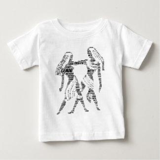 ジェミニ占星術の(占星術の)十二宮図の印の単語の雲 ベビーTシャツ