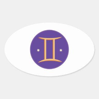 ジェミニ印 楕円形シール