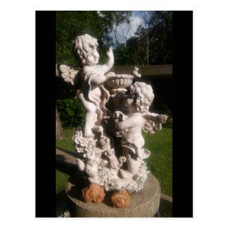 ジェミニ双生児及びオクラホマのばら色の石の郵便はがき ポストカード