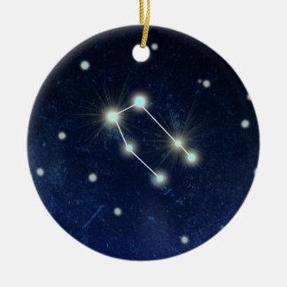 ジェミニ星座|の名前をカスタムする 陶器製丸型オーナメント