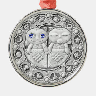 ジェミニ硬貨の優れたオーナメント メタルオーナメント