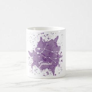 ジェミニ紫色のマグ コーヒーマグカップ
