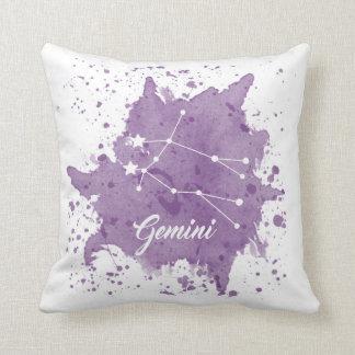 ジェミニ紫色の枕 クッション