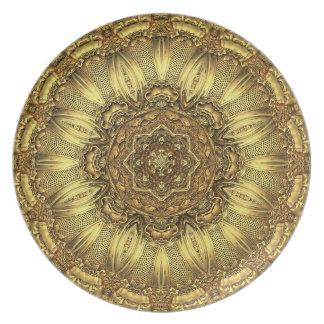 ジェミニ金ゴールドの大皿 プレート