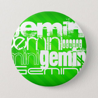 ジェミニ; ネオン緑のストライプ 缶バッジ