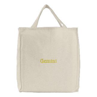 ジェミニ 刺繍入りトートバッグ