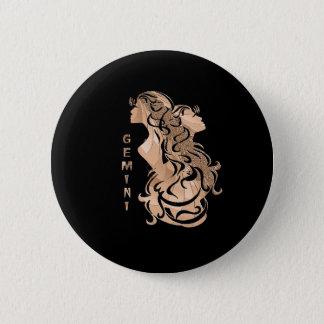 ジェミニ(占星術の)十二宮図のデザイン 缶バッジ