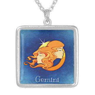 ジェミニ(占星術の)十二宮図のネックレス シルバープレートネックレス