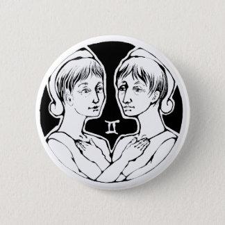 ジェミニ- (占星術の)十二宮図のバッジ 缶バッジ