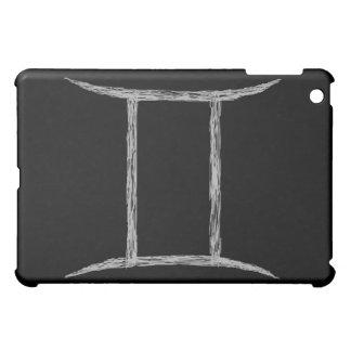 ジェミニ。 (占星術の)十二宮図の占星術の印。 黒 iPad MINIケース