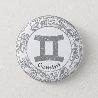 ジェミニ(占星術の)十二宮図の印のヴィンテージ 缶バッジ