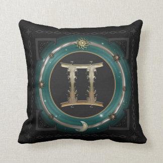 ジェミニ(占星術の)十二宮図の印 クッション