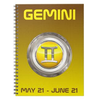 ジェミニ(占星術の)十二宮図の印 ノートブック