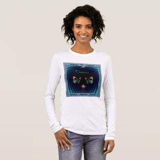 ジェミニ(占星術の)十二宮図の特徴のTシャツ 長袖Tシャツ