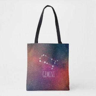 ジェミニ(占星術の)十二宮図の銀河系 トートバッグ