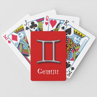 ジェミニ(占星術の)十二宮図赤のどの金属 バイスクルトランプ