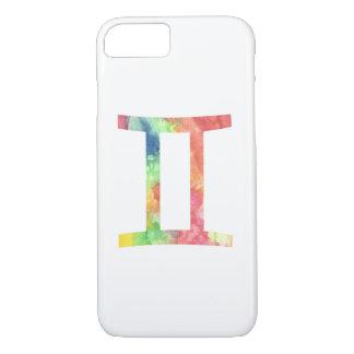 ジェミニiPhone 7の場合、水彩画 iPhone 8/7ケース