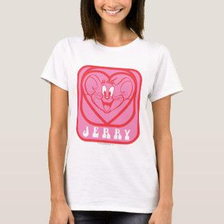 ジェリーのピンクのハート Tシャツ