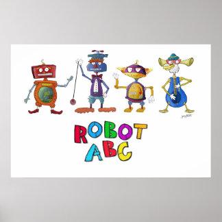 ジェリーの狩りによるロボットABCポスター ポスター