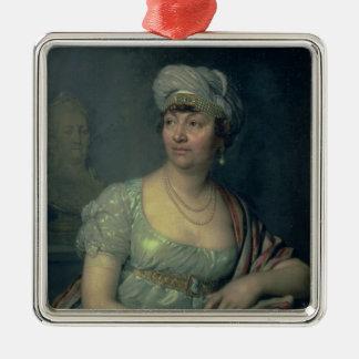 ジェルメーヌde Stael 1812年のポートレート メタルオーナメント