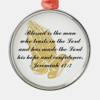 ジェレミアの17:7のオーナメント メタルオーナメント