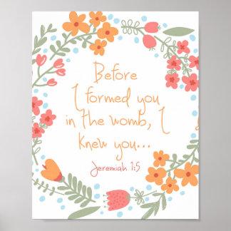 ジェレミアの1:5の子供部屋のプリント ポスター