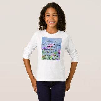 ジェレミアの29:11のフェミニンな天恵のワイシャツ Tシャツ