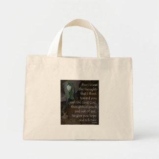 ジェレミアの29:11の小さいトート ミニトートバッグ