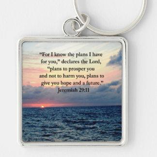 ジェレミアの29:11の日の出の詩の信頼 キーホルダー