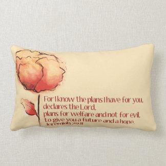 ジェレミアの29:11の枕 -- 私はのために計画を…知っています ランバークッション