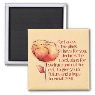 ジェレミアの29:11の磁石 -- 私はのために計画を…知っています マグネット