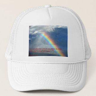 ジェレミアの29:11の虹 キャップ