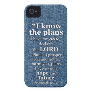 ジェレミアの29:11私は計画の聖書の詩を知っています Case-Mate iPhone 4 ケース
