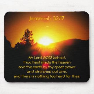 ジェレミアのThy強国の32:17があって下さい マウスパッド