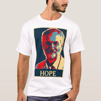 ジェレミーのcorbynの希望のTシャツはあなたの文字を加えます Tシャツ