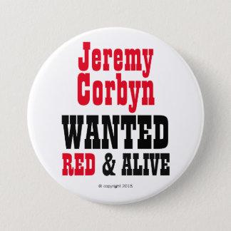 """""""ジェレミーCorbyn赤及びAlive©""""はボタンがバッジほしいと思いました 7.6cm 丸型バッジ"""